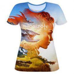 Женская 3D футболка Horizon Zero Dawn art