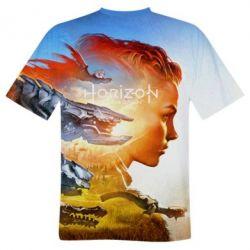 Мужская 3D футболка Horizon Zero Dawn art