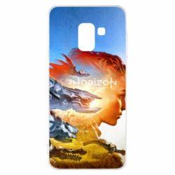 Чехол для Samsung A8 2018 Horizon Zero Dawn art