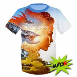Детская 3D футболка Horizon Zero Dawn art