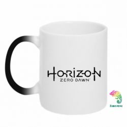Кружка-хамелеон Horizon Zero Dawn logo