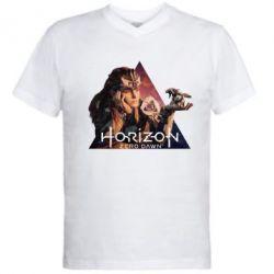 Чоловіча футболка з V-подібним вирізом Horizon Zero Dawn