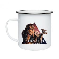 Кружка емальована Horizon Zero Dawn