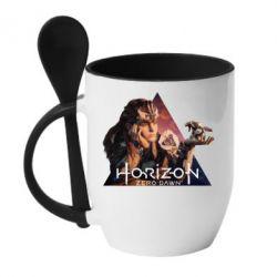 Кружка з керамічною ложкою Horizon Zero Dawn
