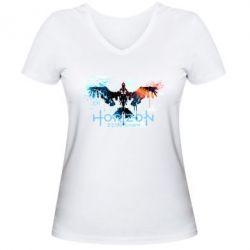 Жіноча футболка з V-подібним вирізом Horizon Zero Dawn