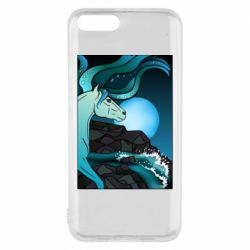 Чехол для Xiaomi Mi6 Horse against the background of the moon