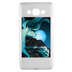 Чехол для Samsung A5 2015 Horse against the background of the moon