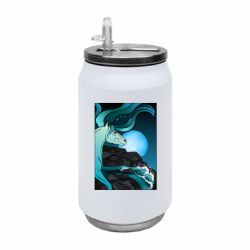 Термобанка 350ml Horse against the background of the moon