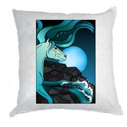 Подушка Horse against the background of the moon