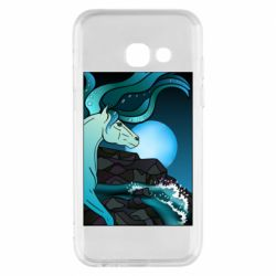 Чехол для Samsung A3 2017 Horse against the background of the moon