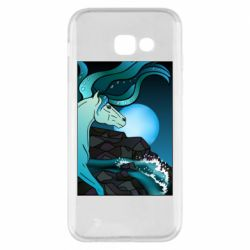 Чехол для Samsung A5 2017 Horse against the background of the moon