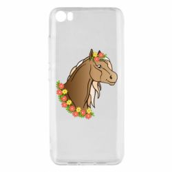 Чехол для Xiaomi Mi5/Mi5 Pro Horse and flowers art