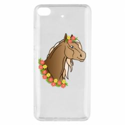 Чехол для Xiaomi Mi 5s Horse and flowers art