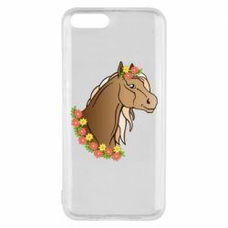 Чехол для Xiaomi Mi6 Horse and flowers art