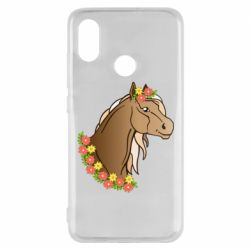 Чехол для Xiaomi Mi8 Horse and flowers art