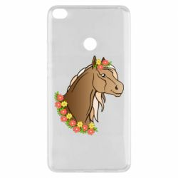 Чехол для Xiaomi Mi Max 2 Horse and flowers art