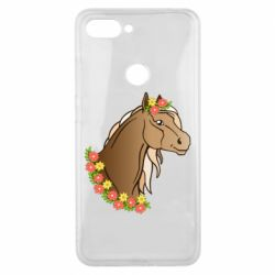 Чехол для Xiaomi Mi8 Lite Horse and flowers art