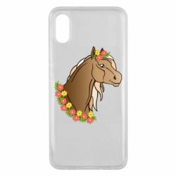 Чехол для Xiaomi Mi8 Pro Horse and flowers art