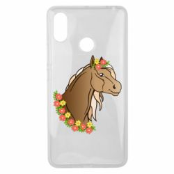 Чехол для Xiaomi Mi Max 3 Horse and flowers art