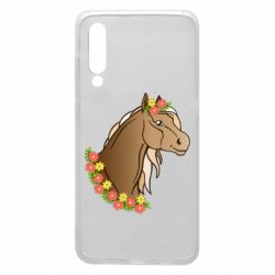 Чехол для Xiaomi Mi9 Horse and flowers art