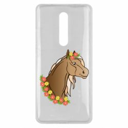 Чехол для Xiaomi Mi9T Horse and flowers art