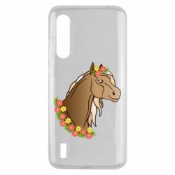 Чехол для Xiaomi Mi9 Lite Horse and flowers art