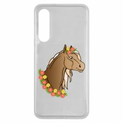 Чехол для Xiaomi Mi9 SE Horse and flowers art