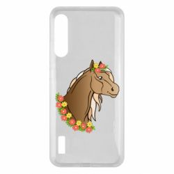 Чохол для Xiaomi Mi A3 Horse and flowers art