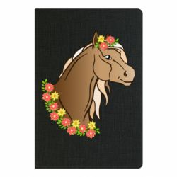 Блокнот А5 Horse and flowers art