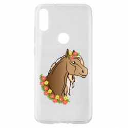 Чехол для Xiaomi Mi Play Horse and flowers art