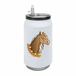 Термобанка 350ml Horse and flowers art