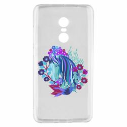 Чохол для Xiaomi Redmi Note 4 Horse and flowers