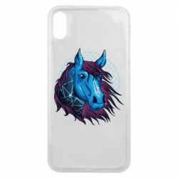 Чехол для iPhone Xs Max Horse and neon color