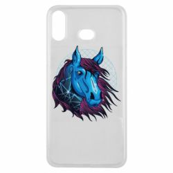 Чехол для Samsung A6s Horse and neon color