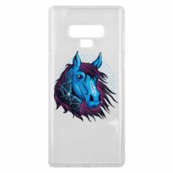 Чехол для Samsung Note 9 Horse and neon color