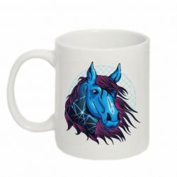 Кружка 320ml Horse and neon color