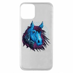 Чехол для iPhone 11 Horse and neon color