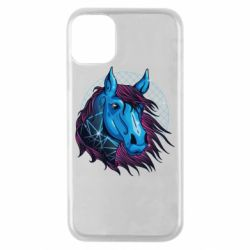 Чехол для iPhone 11 Pro Horse and neon color