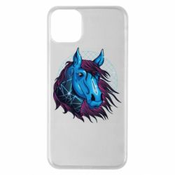 Чехол для iPhone 11 Pro Max Horse and neon color