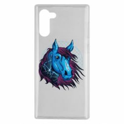 Чехол для Samsung Note 10 Horse and neon color