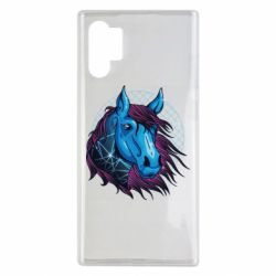 Чехол для Samsung Note 10 Plus Horse and neon color
