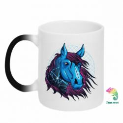 Кружка-хамелеон Horse and neon color