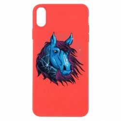 Чехол для iPhone X/Xs Horse and neon color