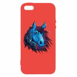 Чехол для iPhone5/5S/SE Horse and neon color