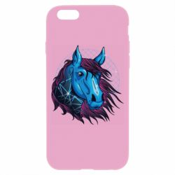 Чехол для iPhone 6/6S Horse and neon color