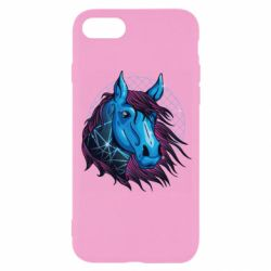 Чехол для iPhone 8 Horse and neon color