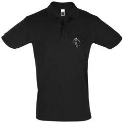 Мужская футболка поло Horse contour