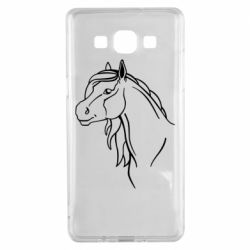Чехол для Samsung A5 2015 Horse contour