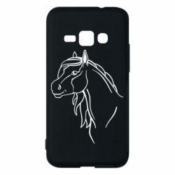 Чехол для Samsung J1 2016 Horse contour