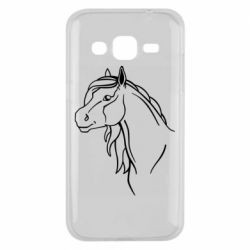 Чехол для Samsung J2 2015 Horse contour